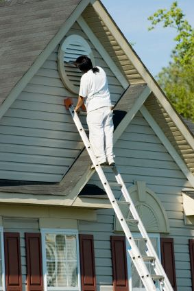 Exterior Painting being performed by an experienced Everlast Construction & Painting LLC painter.