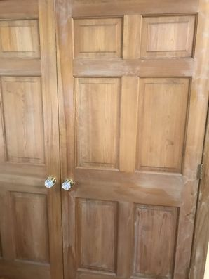 Before & After Door Staining in Clifton, NJ (1)
